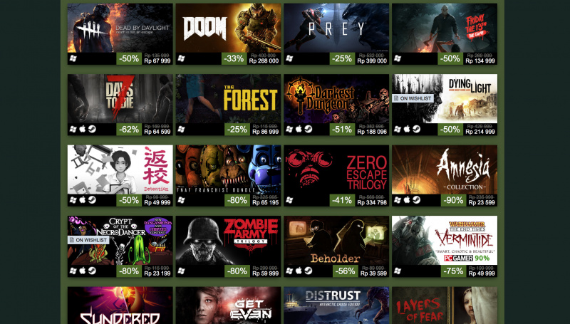 Pesta Game Murah! Steam Halloween Sale 2017 Sudah Dimulai