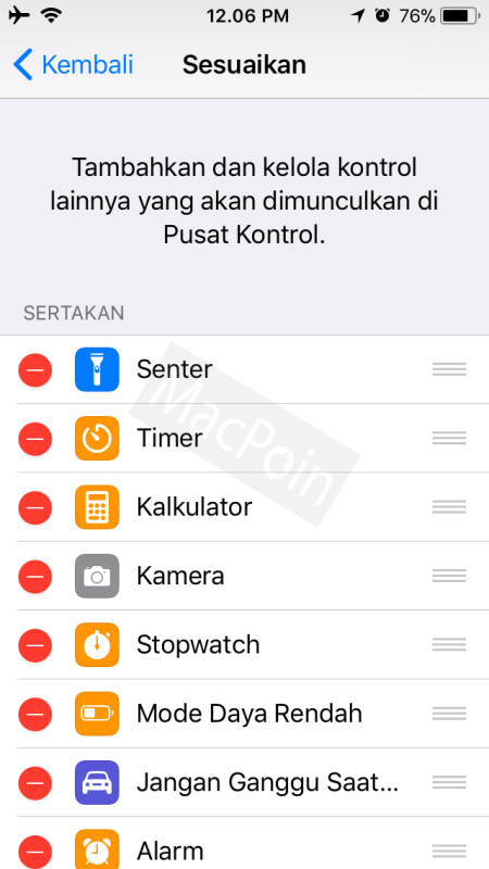 Cara Mengubah Isi Control Center di iPhone dan iPad