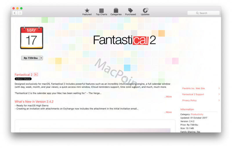 Review Fantastical 2: Aplikasi Kalender Terbaik Mac