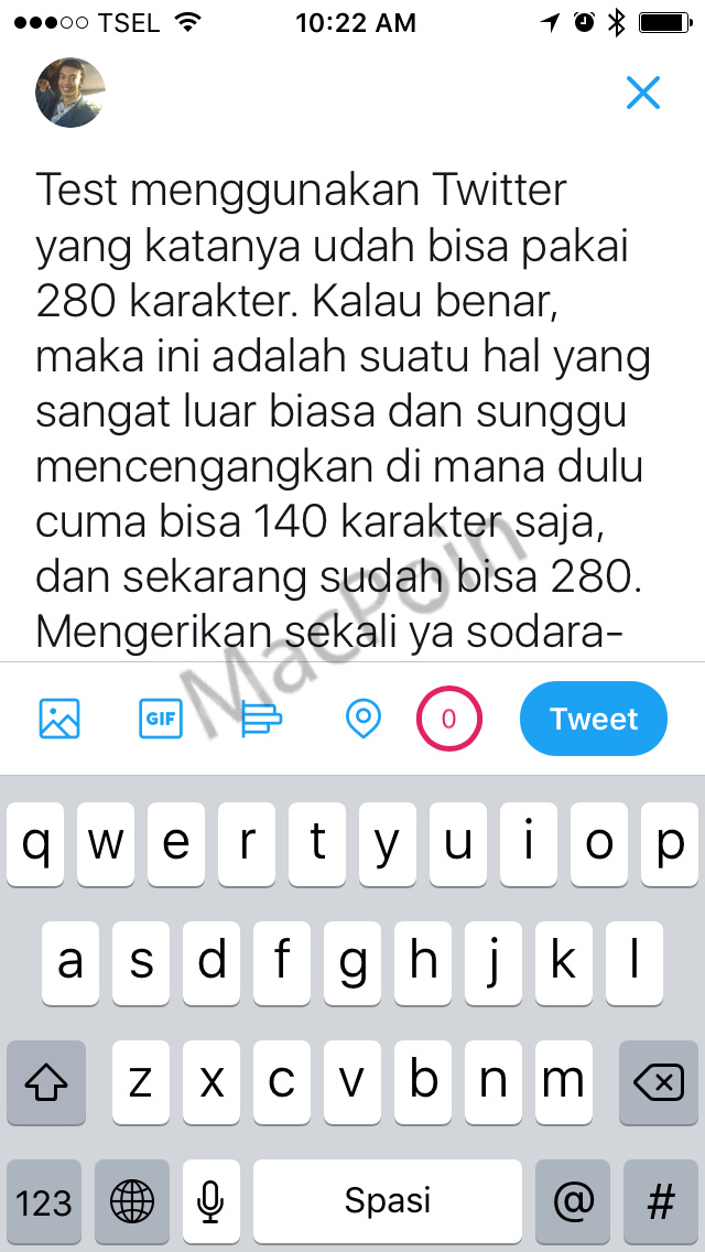 Cara Tweet 280 Karakter di Twitter via iPhone dan iPad