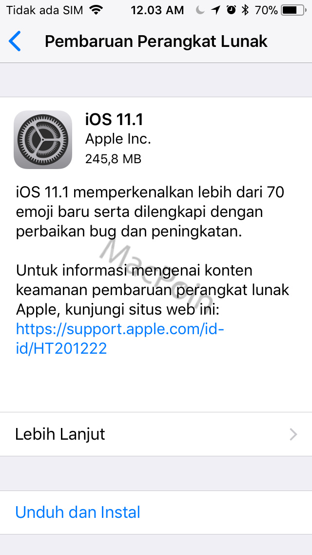 iOS 11.1 Dirilis ke Publik, Bawa Perbaikan dan Fitur Baru