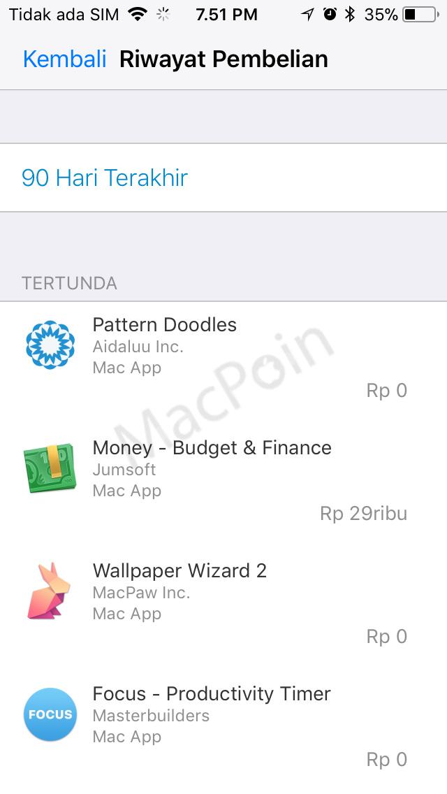 Cara Melihat Riwayat Pembelian iTunes dan App Store