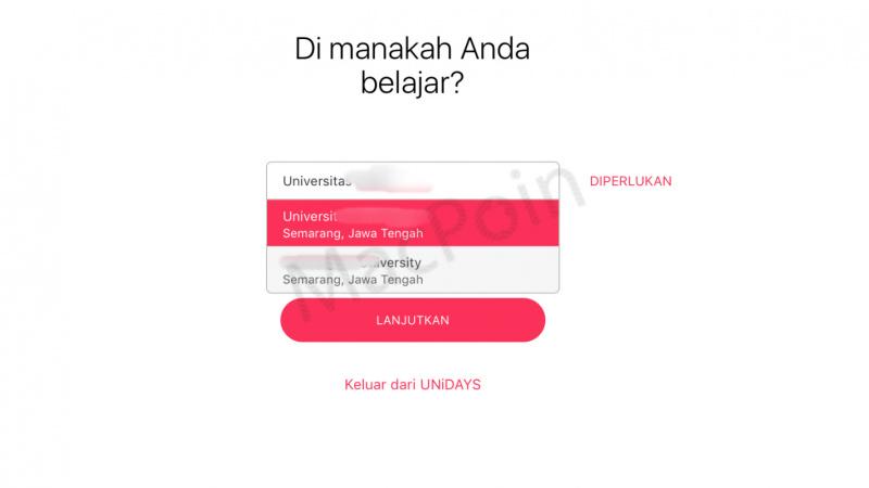 Cara Verifikasi UNiDAYS Untuk Diskon Apple Music