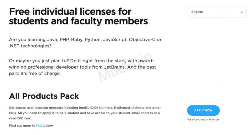 Cara Dapatkan Produk JetBrains Gratis Untuk Pelajar | MacPoin