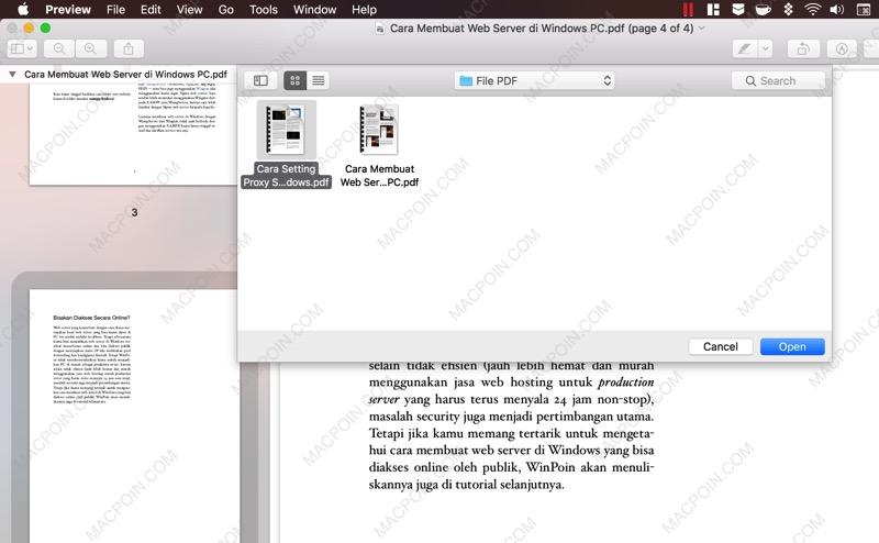 Cara Menggabungkan File PDF di Mac