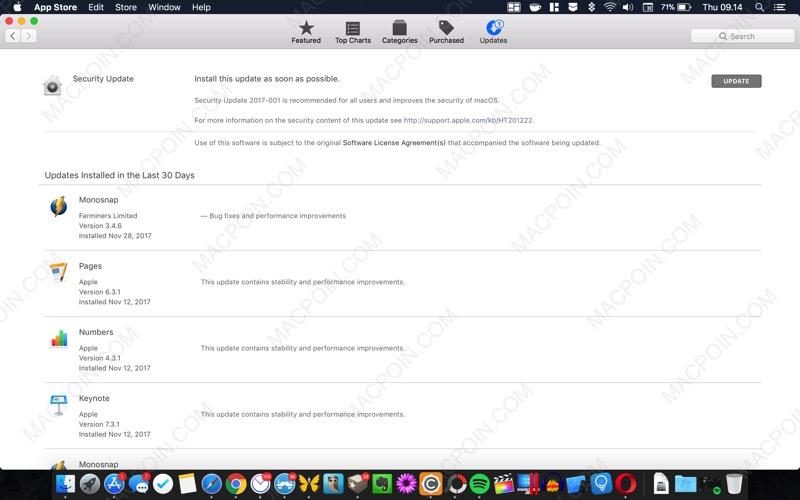 Apple Rilis Update Untuk Perbaiki Bug Root User di macOS High Sierra