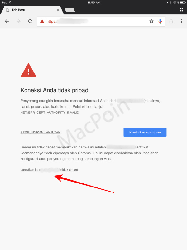 Cara Mengatasi Your Connection is Not Private di iOS