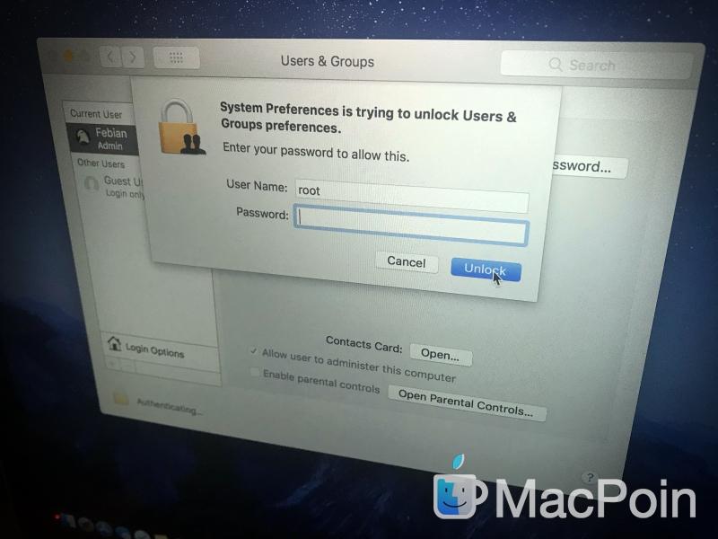 Bug Akses Root Tanpa Password di macOS High Sierra Bisa Muncul Lagi