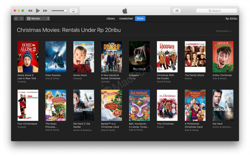 iTunes Store Penuh Dengan Diskon Film Murah Akhir Tahun