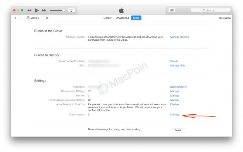 Cara Membatalkan Langganan App Store dari iTunes