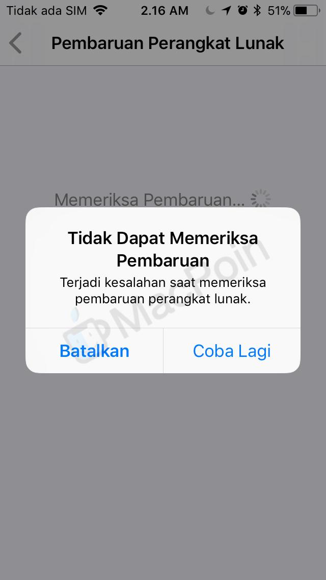 Cara Mengatasi Masalah Tidak Bisa Cek Update iOS