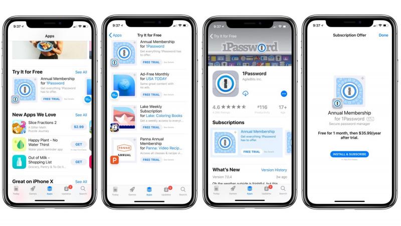 'Free Trial' Aplikasi Berlangganan Dipajang Apple di App Store