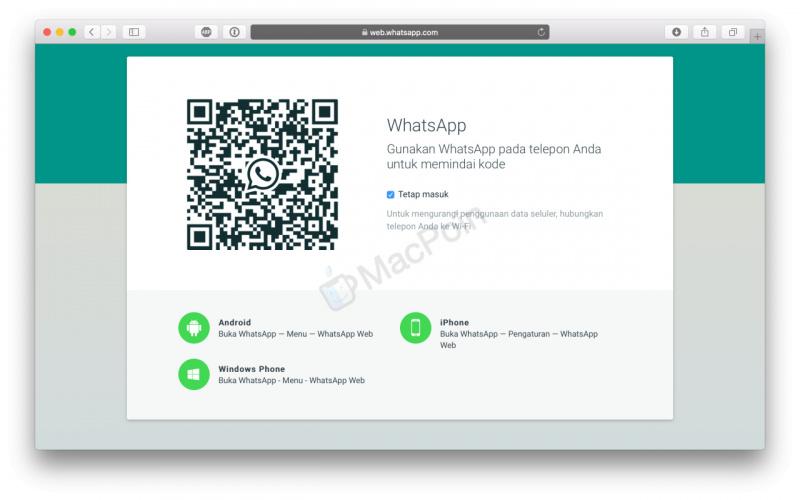 Cara Menggunakan WhatsApp Web Dengan Bantuan iPhone