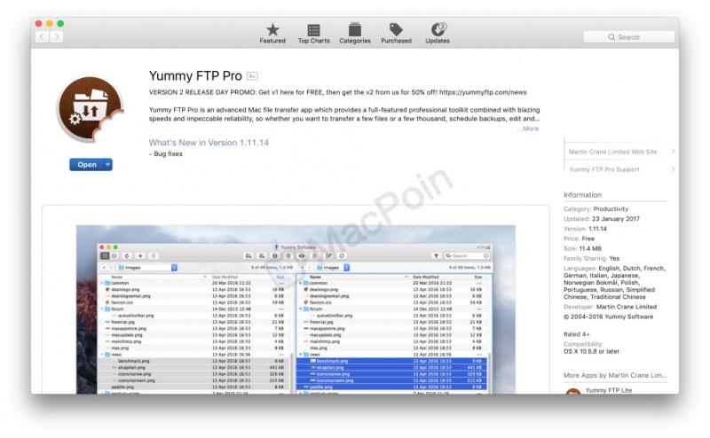 Aplikasi FTP Terbaik, Yummy FTP Pro Kini Jadi Gratis