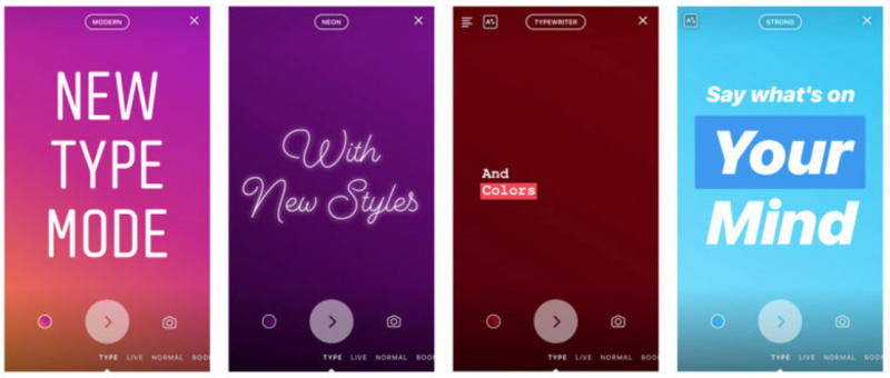 Type Mode di Instagram Stories Resmi Dirilis ke iPhone