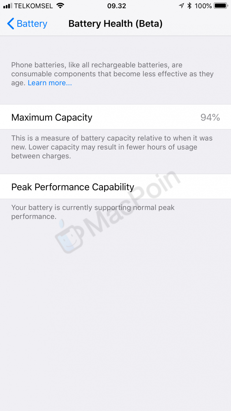 Mengapa Tak Ada Battery Health di iPhone 5S di iOS 11.3?