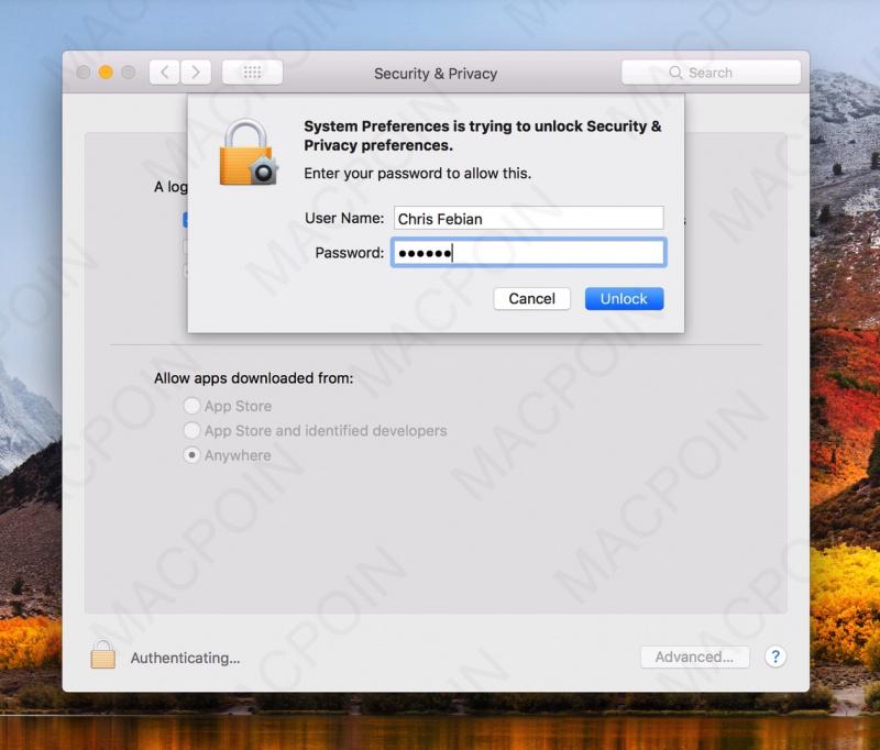 Cara Mematikan Gatekeeper di macOS High Sierra
