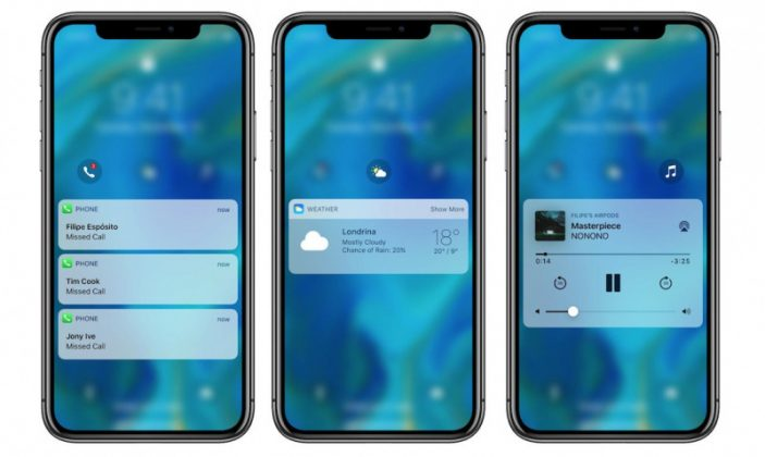 Konsep: Tampilan Lock Screen iOS 12 Baru yang Keren