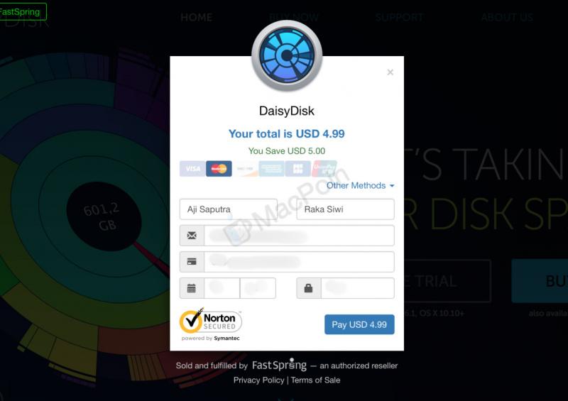 Cara Aktivasi Lisensi Full Version DaisyDisk di Mac