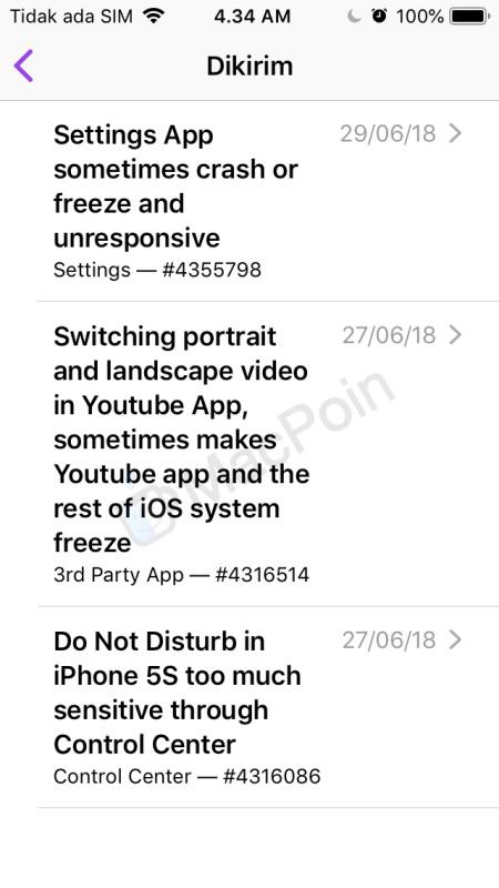 Cara Kirim Feedback Bug dan Error di iOS Beta ke Apple
