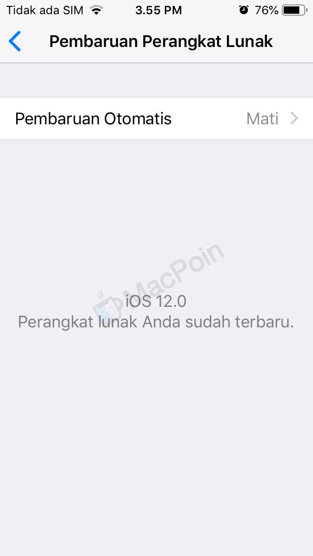 Cara Menyalakan Update Sistem Otomatis di iOS 12