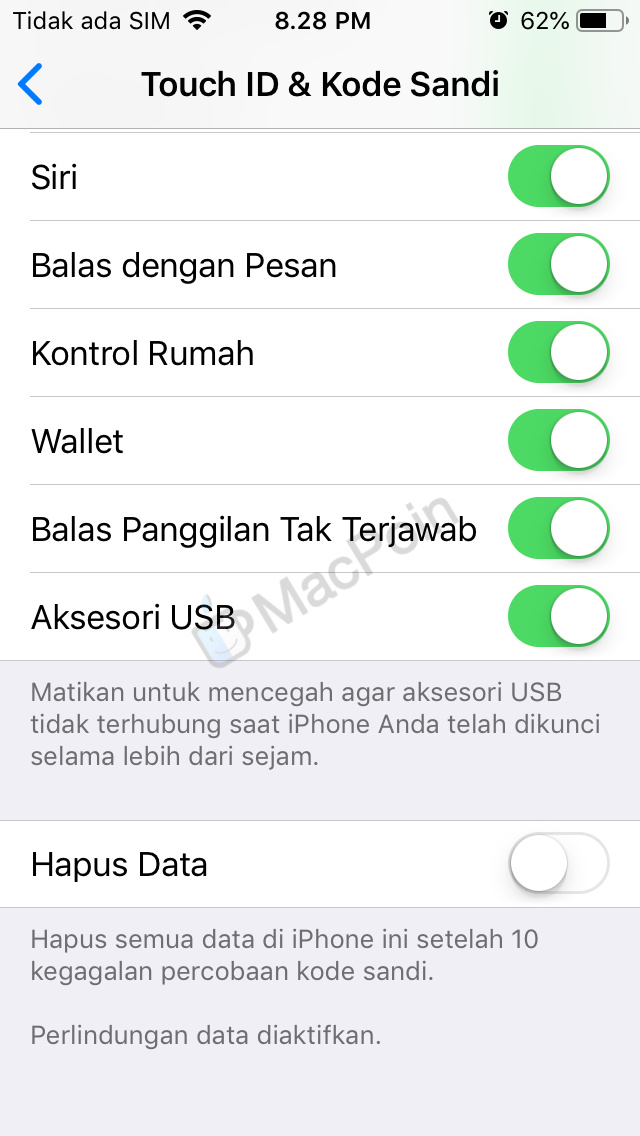 Cara Akses Kontrol USB Restricted Mode di iOS 12