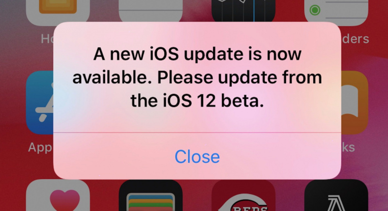 Muncul Notifikasi Update iOS 12 Beta Terus Menerus
