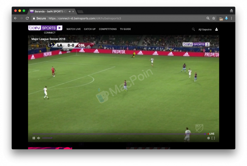 Cara Live Streaming BeIN Sport di Web Browser PC dan Mac