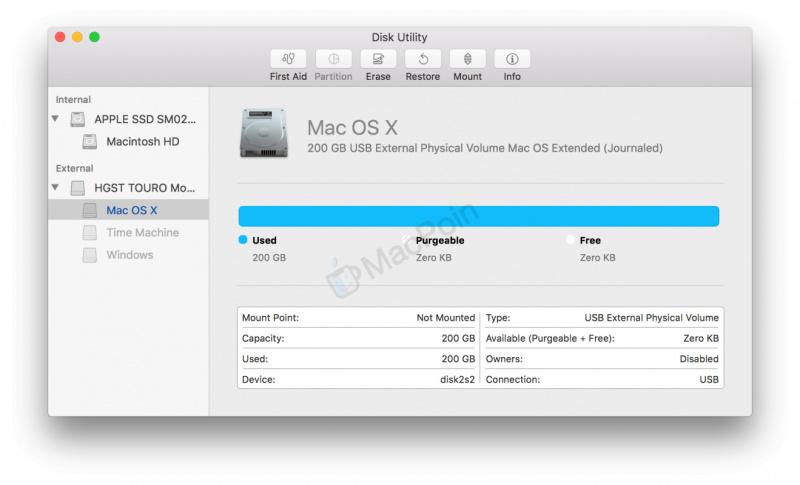Cara Mount dan Unmount Hardisk Eksternal di Mac