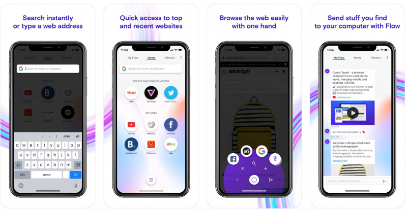 Opera Touch Browser Dirilis ke iPhone dan iPad