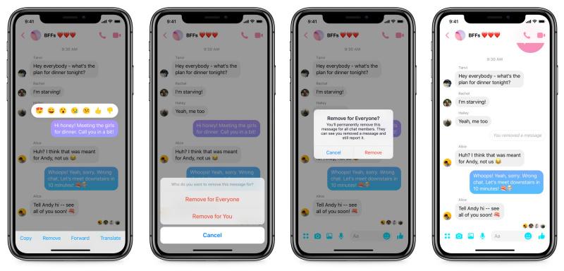 Cara Unsend atau Tarik Pesan Terkirim di Facebook Messenger