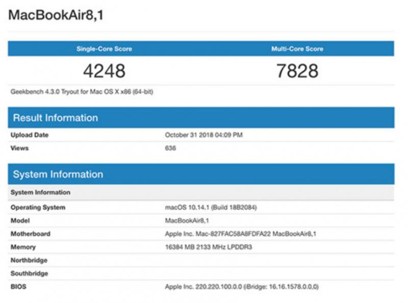 Inilah Skor Benchmark MacBook Air 2018 Terbaru
