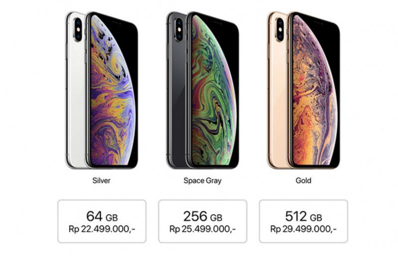Ini Harga Resmi iPhone XS dan iPhone XS Max di Indonesia
