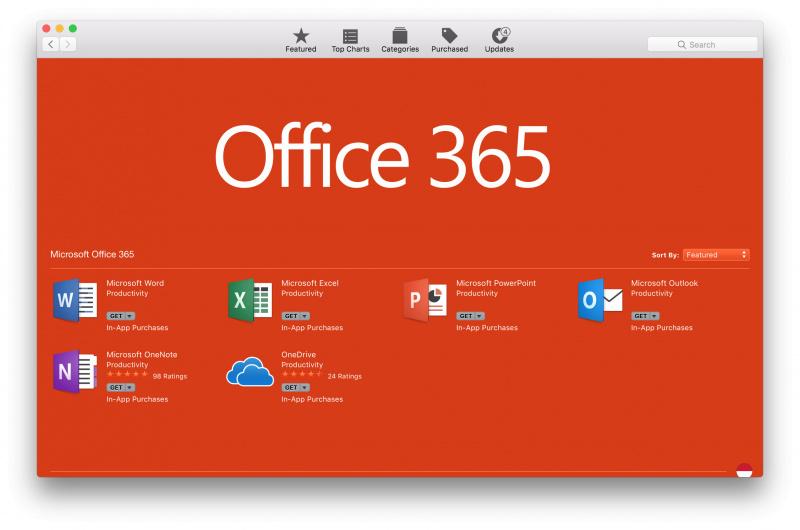 Microsoft Office 365 Resmi Dirilis ke Mac App Store