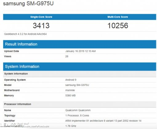 Bocoran Benchmark Galaxy S10+ Masih Kalah dengan iPhone XS