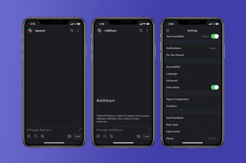 Slack for iOS Kini Sedang Uji Coba Fitur Dark Mode