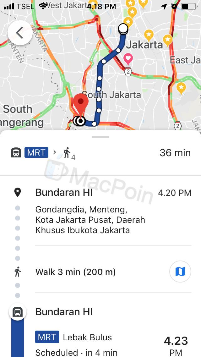 Kini Kamu Sudah Bisa Lihat Jadwal MRT di Google Maps