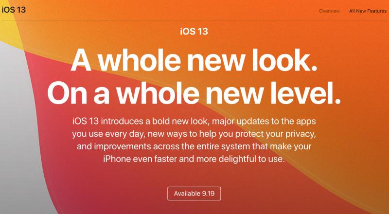 iOS 13 Akan Dirilis Pada 19 September 2019