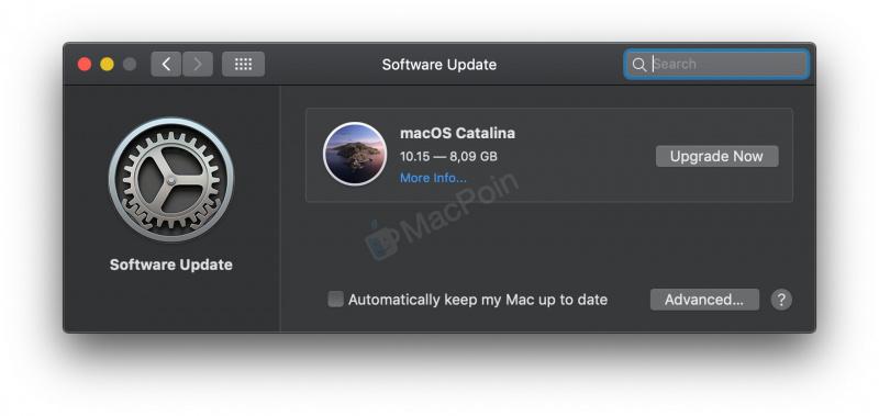 Pastikan Mac atau MacBook tersambung ke Internet dengan kecepatan tinggi. Buka System Preference -> Software Update. Tunggu sampai macOS Catalina muncul di menu Upgrade. Kamu akan mendapati menu Upgrade ke macOS Catalina. Klik Upgrade Now untuk memulai upgrade ke macOS Catalina. Tunggu sampai download selesai. Ikuti langkah-langkah upgrade yang muncul di layar Mac. Tunggu sampai proses upgrade Mac selesai.