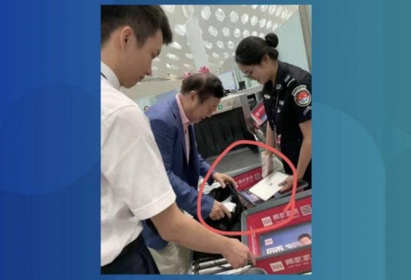 CEO Huawei Ketahuan Membawa iPad di Bandara