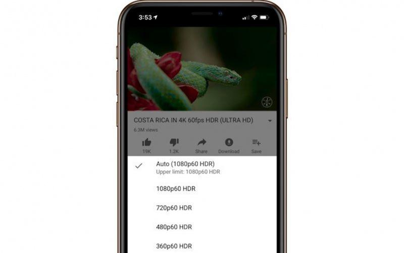 Aplikasi YouTube Kini Mendukung HDR di iPhone 11