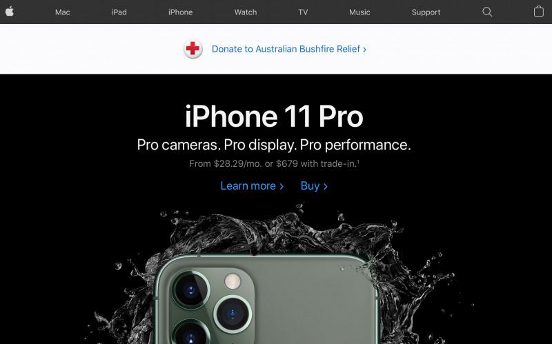 Apple Resmi Membuka Donasi Kebakaran untuk Australia