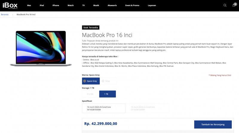 Akhirnya MacBook Pro 16 Inch Resmi Dirilis di Indonesia