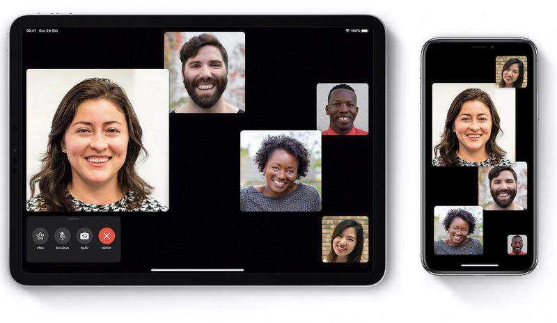 iOS 13.5 Bisa Matikan Efek Tile di FaceTime Group Call