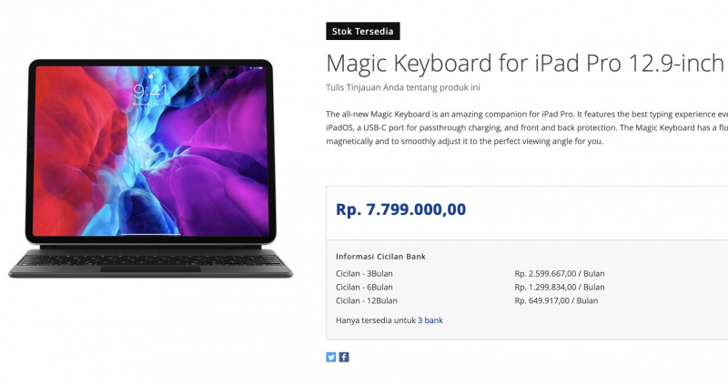 Magic Keyboard for iPad Pro Resmi Dirilis di Indonesia, Seharga Laptop