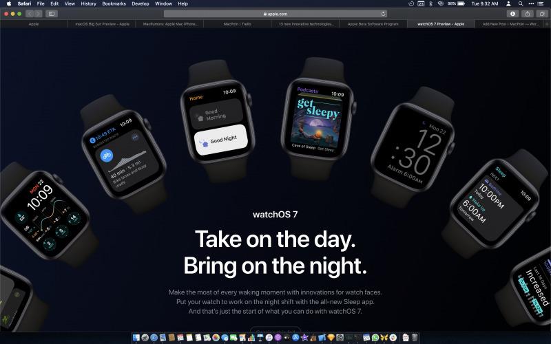 Apple Resmi Perkenalkan watchOS 7 di WWDC20