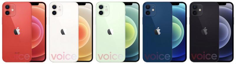 Warna iPhone 12 Bocor, Ada Blue, Red, Green, Black, dan White