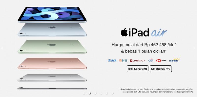 iPad Air 4 dan iPad 8 Resmi Dirilis di Indonesia