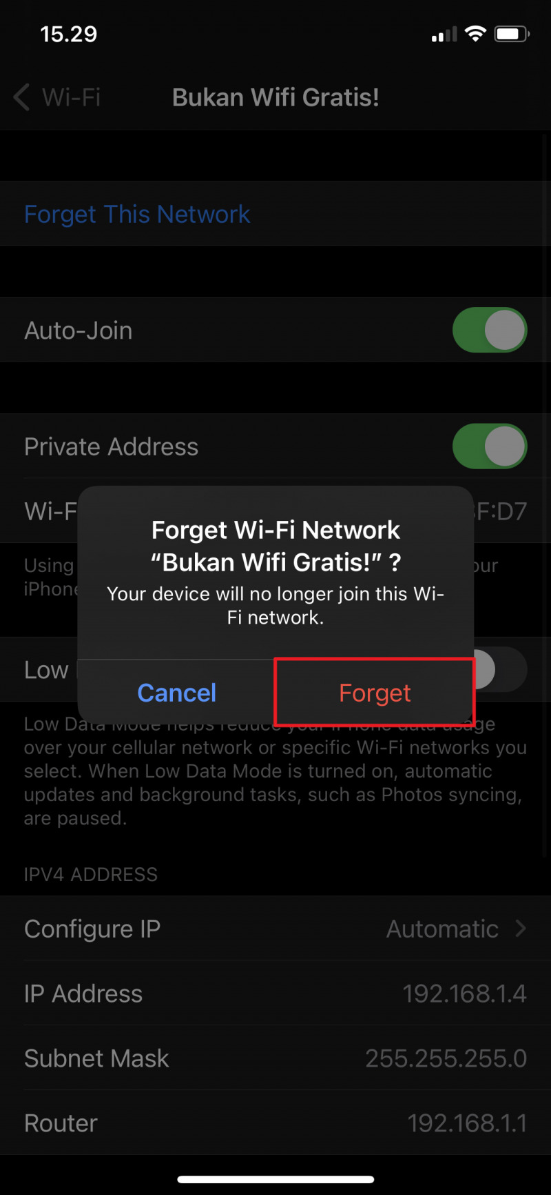 Cara Jaringan Forget WiFi di iPhone  MacPoin