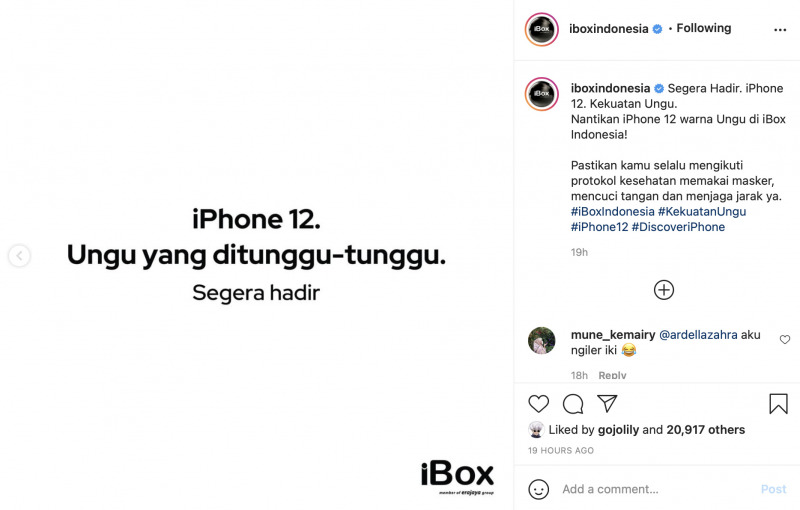 iPhone 12 Ungu Sebentar Lagi Resmi Dirilis di Indonesia